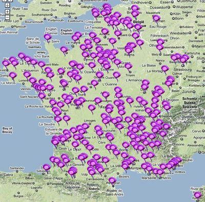 Cliquez sur l'image pour accéder au site et consulter la carte internationale interactive des évènements