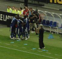 Raymond Domenech au match France-Serbie en 2008. Photo (c) Julien Haler