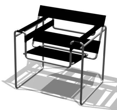Célèbre siège créé par Marcel Breuer, Borowski le 16 juillet 2006