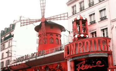 Le Moulin Rouge. Photo prise par Sarah Barreiros.