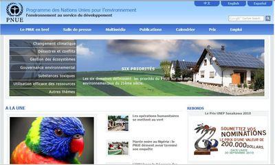 Cliquez sur l'image pour avoir le site du Programme des Nations Unies pour l'environnement