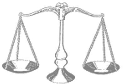 La balance, symbole de la Justice. Cliquez ici pour accéder au site de la Justice