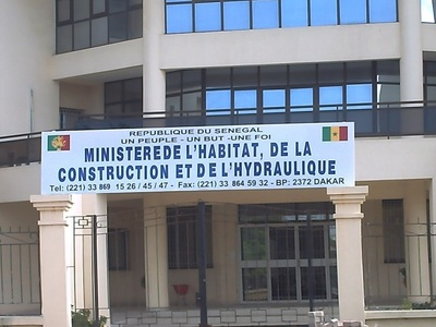 Le Ministère de l'Habitat, de la Construction et de l'Hydraulique du Sénégal. Photo (C) Elhadji Babacar MBENGUE