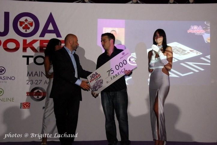 FABRICE GOUGET REMPORTE 75.000 € LORS DE LA FINALE DE JOAPOKER TOUR A ANTIBES