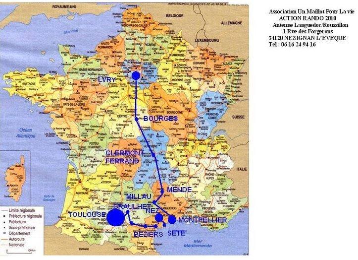 1000 kms à pied sur les routes de France