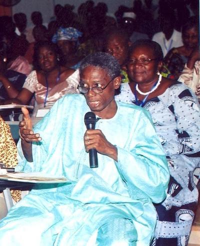 Le professeur Basile Guissou pour qui cheikh anta Diop et Joseph Ki-Zerbo sont incontournables pour les journalistes(photo personnelle)