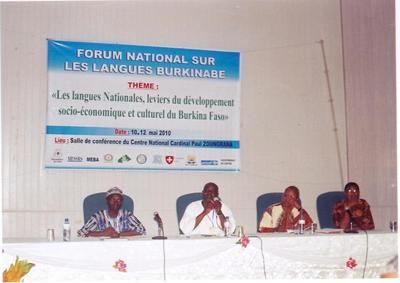 Une vue des animateurs du forum sur les langues nationales comme celles du développement (photo personnelle)