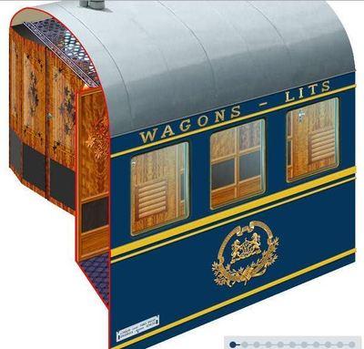 Animation présentant les Wagons-Lits (c) Venice Simplon Orient-Express