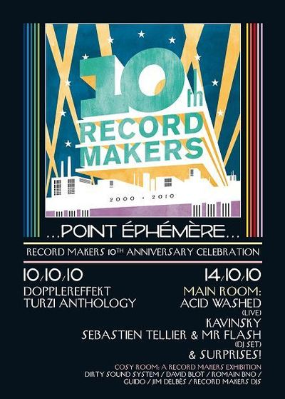 RECORD MAKERS 10e ANNIVERSAIRE