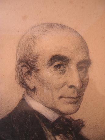 Portrait de Xavier Pascal Coste, fusain, vers 1859