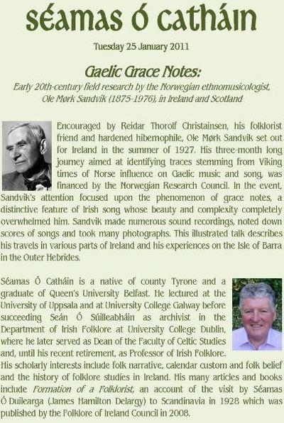 Princess Grace Irish Library Monaco presents Séamas Ó Catháin and Kevin O'Dwyer