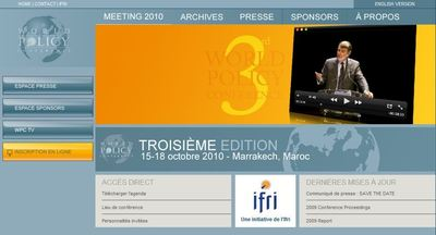 Site du World Policy Conference