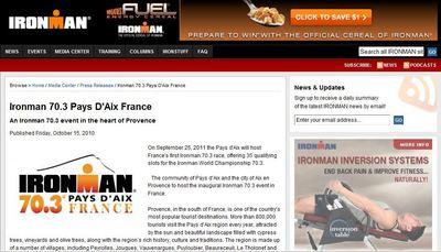 Site du Ironman