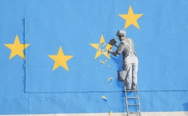 Peinture murale par Banksy. Photo (c) Paul Bissegger.