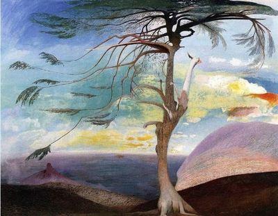 Le cèdre solitaire, peinture à l'huile, 248×194cm, 1907