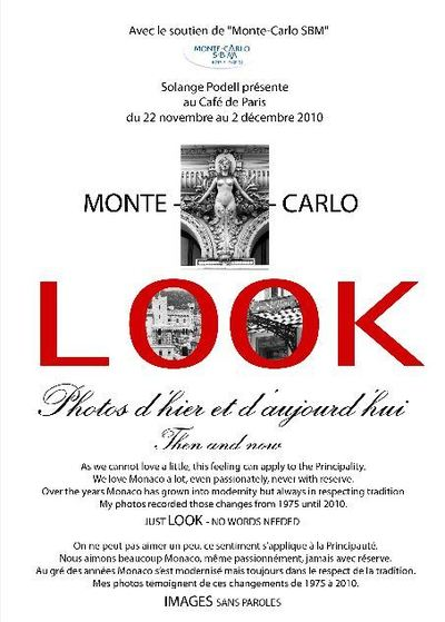 MONTE-CARLO LOOK  Photos d'hier et d'aujourd'hui
