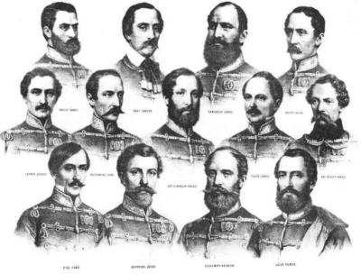 Représentation des 13 martyrs d'Arad datée de 1850