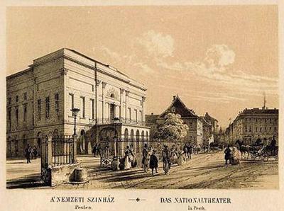 Le théâtre national hongrois, construit en 1837