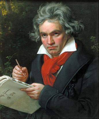 Portrait de Beethoven composant la Missa Solemnis, par Joseph Karl Stieler en 1820, actuellement à la Beethoven-Haus de Bonn
