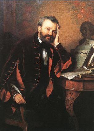Erkel Ferenc. peint vers 1850 par Györgyi Alajos (1821–1863)