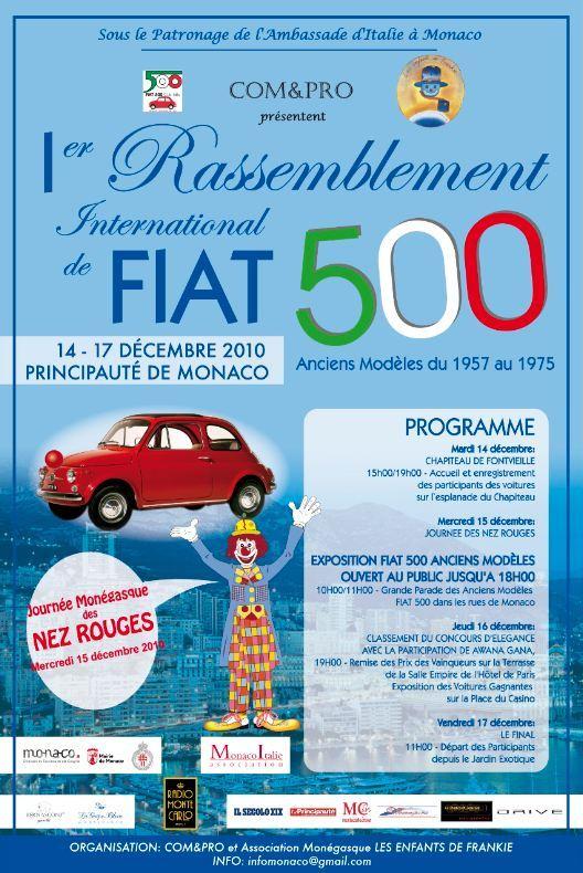 Les anciennes Fiat 500 à l'honneur lors du 1er rassemblement international