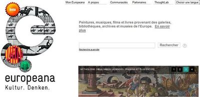 Cliquez sur l'image pour accéder au site d'Europeana