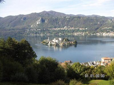 Lac d'Orta vu du Sacro Monte. Photo (c) CD