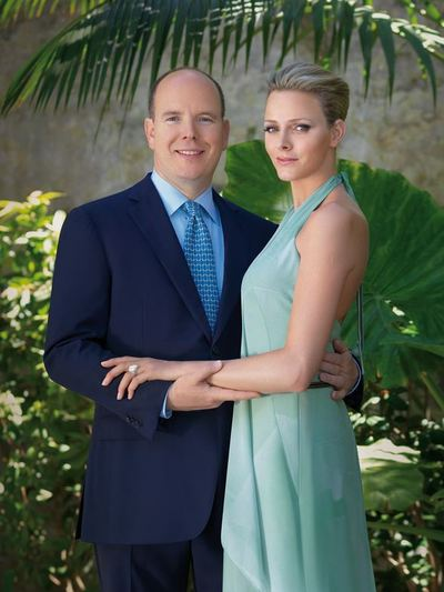La photo officielle du couple princier de Monaco (c) Amedeo M. Turello / Palais Princier