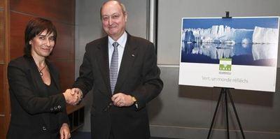 Sylvie Biancheri, Directeur Général du Grimaldi Forum Monaco, et Guy Magnan, Administrateur Directeur Général de la SMEG. Photo (c) DR