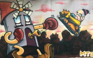 Fresque à la ZAD du Moulin. Photo (c) PR