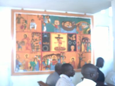Des fidèles écoutant l'homélie (C) Elhadji Babacar MBENGUE