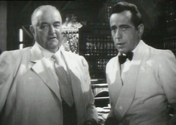 Humphrey Bogart et Sydney Greenstreet dans Casablanca