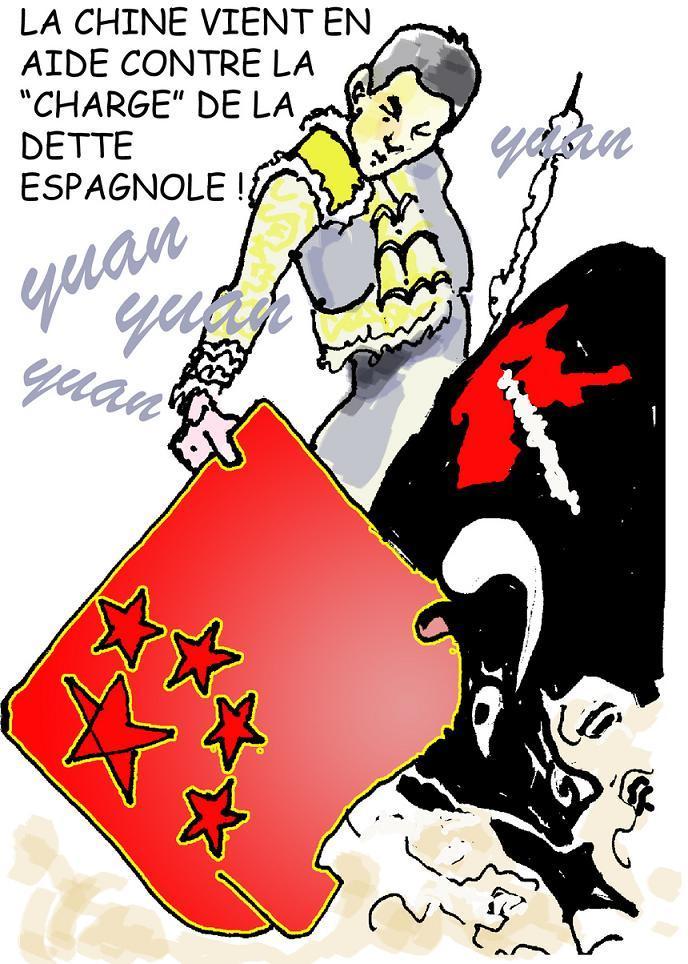 DESSIN DE PRESSE: La Chine vient en aide à l'Espagne