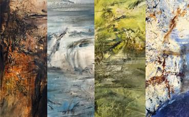 Détails de plusieurs tableaux. Photos et montage (c) Charlotte Service-Longépé