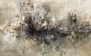 """""""Nous deux"""", 1957, huile sur toile. Photo (c) Charlotte Service-Longépé"""