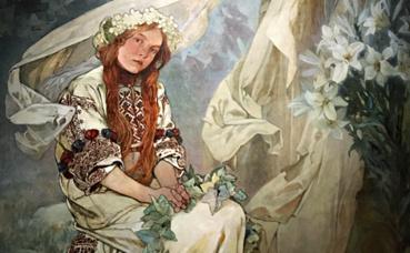 """""""La Vierge aux Lys"""". Photo (c) Charlotte Service-Longépé"""