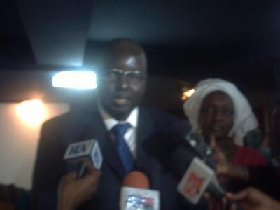 Alé Lo, Président des associations des élus locaux du Sénégal (C) Elhadji Babacar MBENGUE