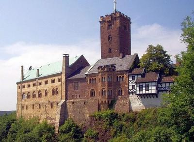 Le château de la Wartburg à Eisenach,  photo de Thomas Doerfer, 21 mars 2004
