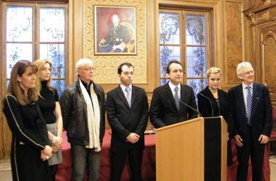 Georges Marsan a adressé ces voeux à la presse ce lundi 17 janvier. Photo (c) Eva Esztergar