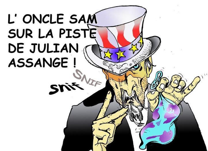 DESSIN DE PRESSE: Ca sent 'Assange' !