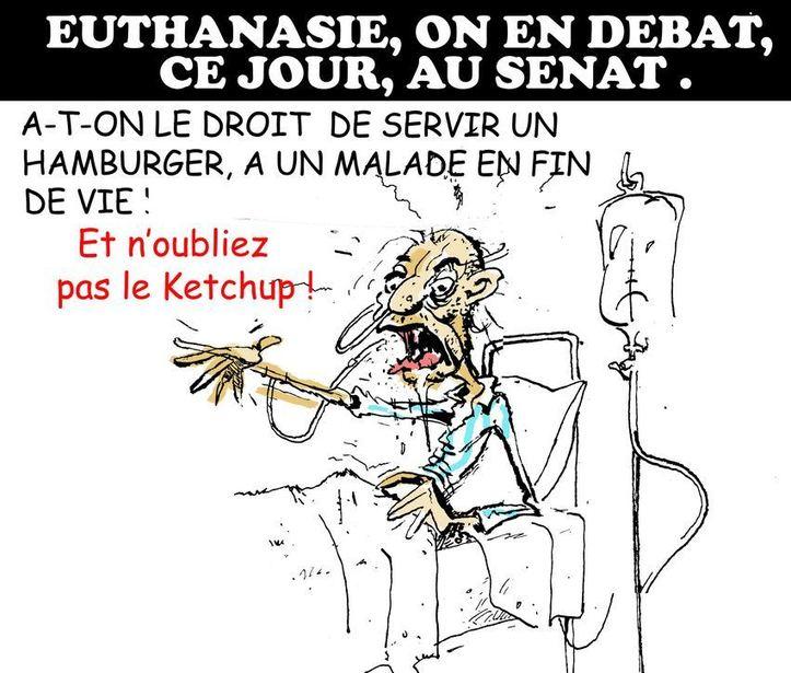 DESSIN DE PRESSE: Euthanasie, on en débat