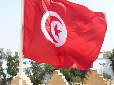 Drapeau tunisien. Photo (c) Bellyglad