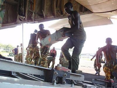 Des soldats américains en mission de maintien de paix à Bujumbura en décembre 2010. Photo (c) Gordon Christensen