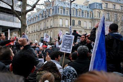 Manifestation de soutien aux Egyptiens. Photo (c) Maya-Anaïs Yataghène