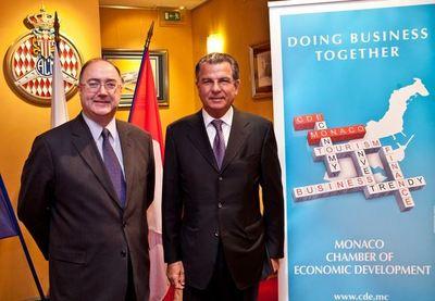 SEM Paul Kavanagh, Ambassadeur d'Irlande à Monaco et Michel Dotta, Président de la CDE. Photo (c) P. Fitte Realis
