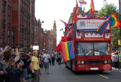 Gay pride à Manchester en 2008, Terry Books le 29 août 2008