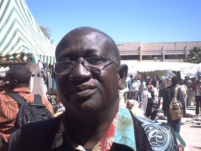 François Raoul Latouffe, membre CADTM Sénégal (C) Elhadji Babacar MBENGUE