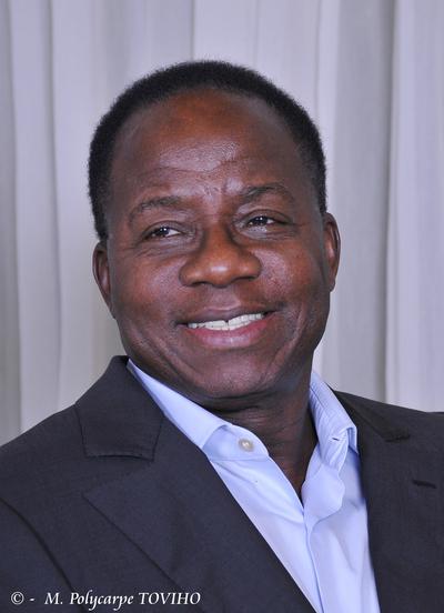 Me Adrien Houngbédji, candidat de la principale coalition de forces de l'opposition, à l'origine de l'appel au report