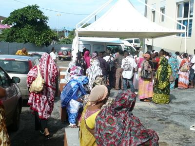 Les bénéficiaires des micro crédits au siège de l'ADIE Mayotte (c) Photos ADIE