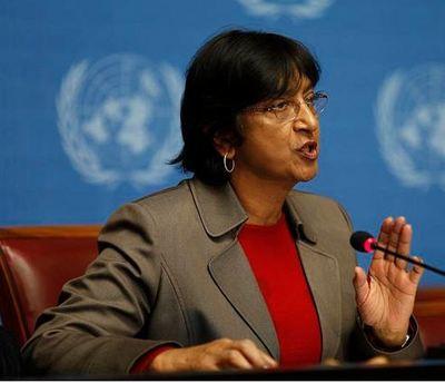 La Haute commissaire de l'ONU aux droits de l'homme, Navi Pillay (UN Photo/David McCreery)